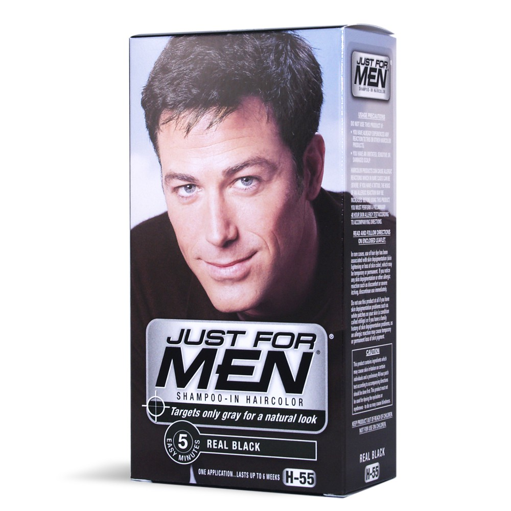 just for men haarfarbe in shampooform schwarz h55 aus. Black Bedroom Furniture Sets. Home Design Ideas