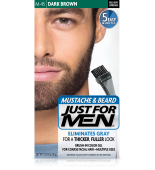 JUST FOR MEN - MUSTACHE & BEARD BRUSH-IN COLOUR GEL (Dark Brown Black) M45