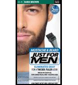 JUST FOR MEN - MUSTACHE & BEARD BRUSH-IN COLOUR GEL (Dark Brown Black) M45