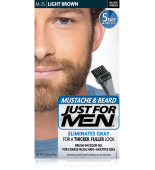 JUST FOR MEN - MUSTACHE & BEARD BRUSH-IN COLOUR GEL (Light Brown) M25