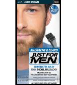 JUST FOR MEN - MUSTACHE & BEARD BRUSH-IN COLOUR GEL (Light Brown) M25