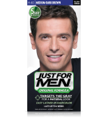 JUST FOR MEN - SHAMPOO IN HAIR COLOUR Colour: Medium-Dark Brown H40