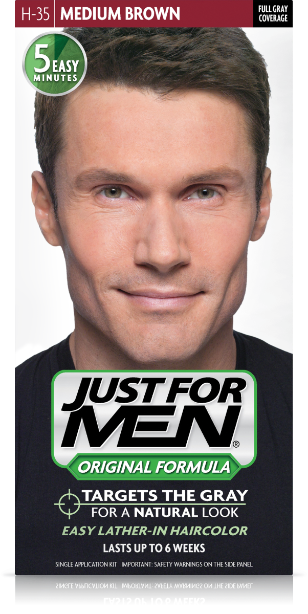 JUST FOR MEN - SHAMPOO IN HAIR COLOUR Colour: Medium Brown H35 ...