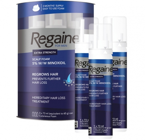 Rogaine (Regaine) for Men ®  foam 5% minoxidil - 3 month supply